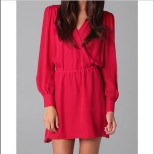 Parker Red Long Sleeve Dress